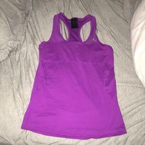 Purple Adidas Tank top